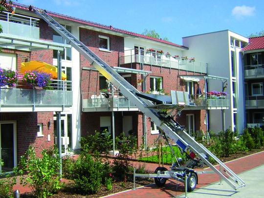 Een ladderlift is ideaal voor werkzaamheden op grote hoogte